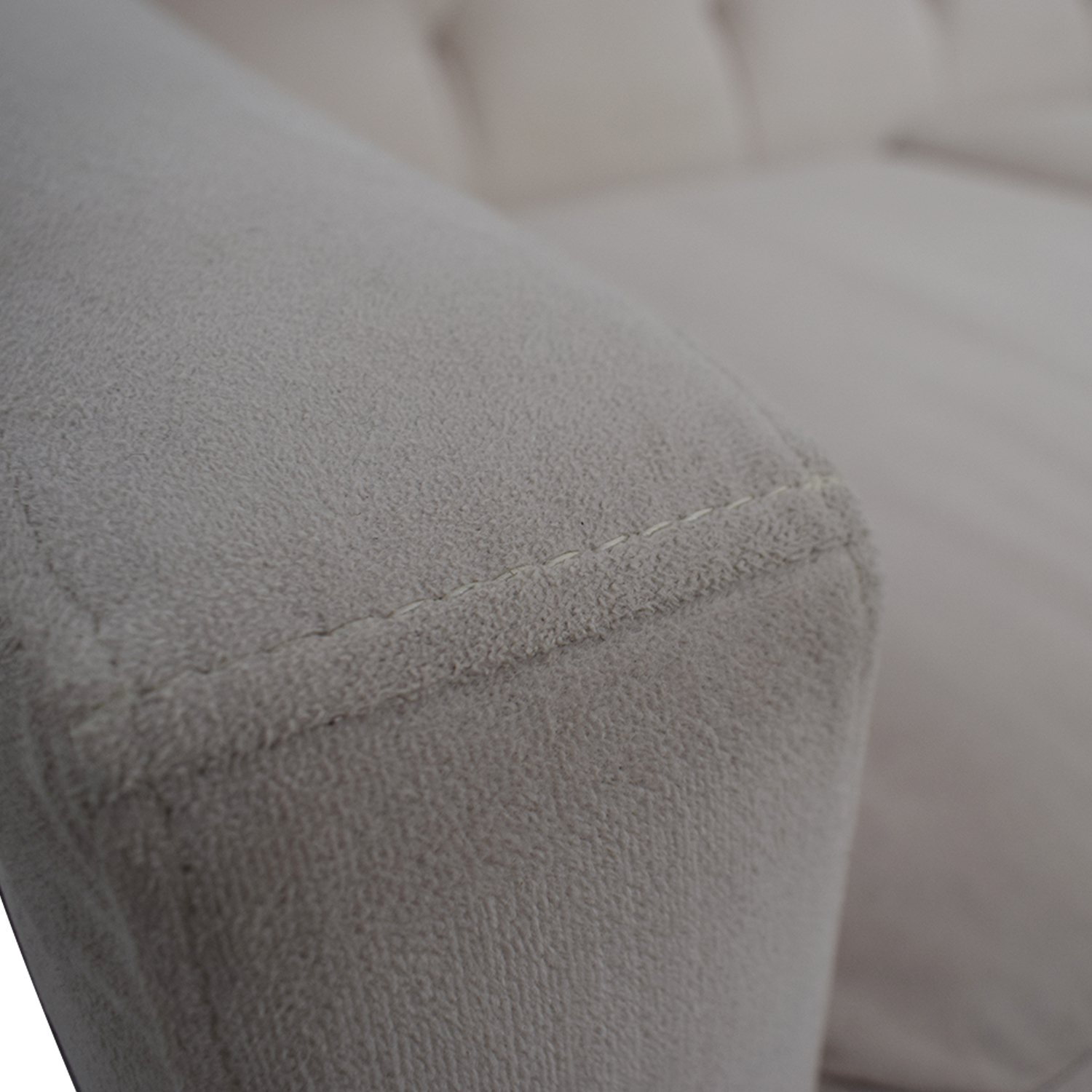 47 Off Max Home Max Home Furniture White Tufted Microfiber Three Cushion Couch Sofas