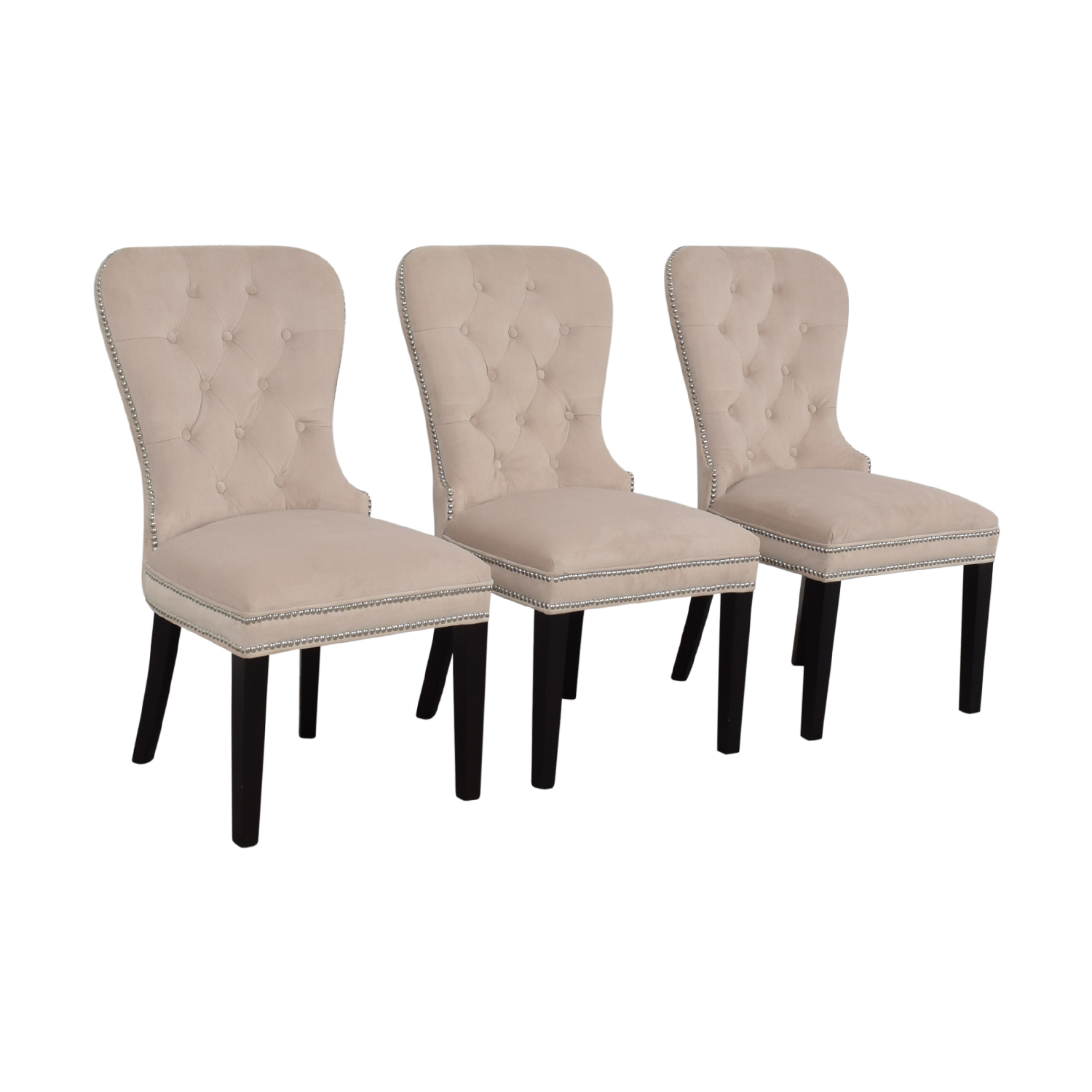 90 off z gallerie z gallerie charlotte cream tufted nailhead dining chairs chairs