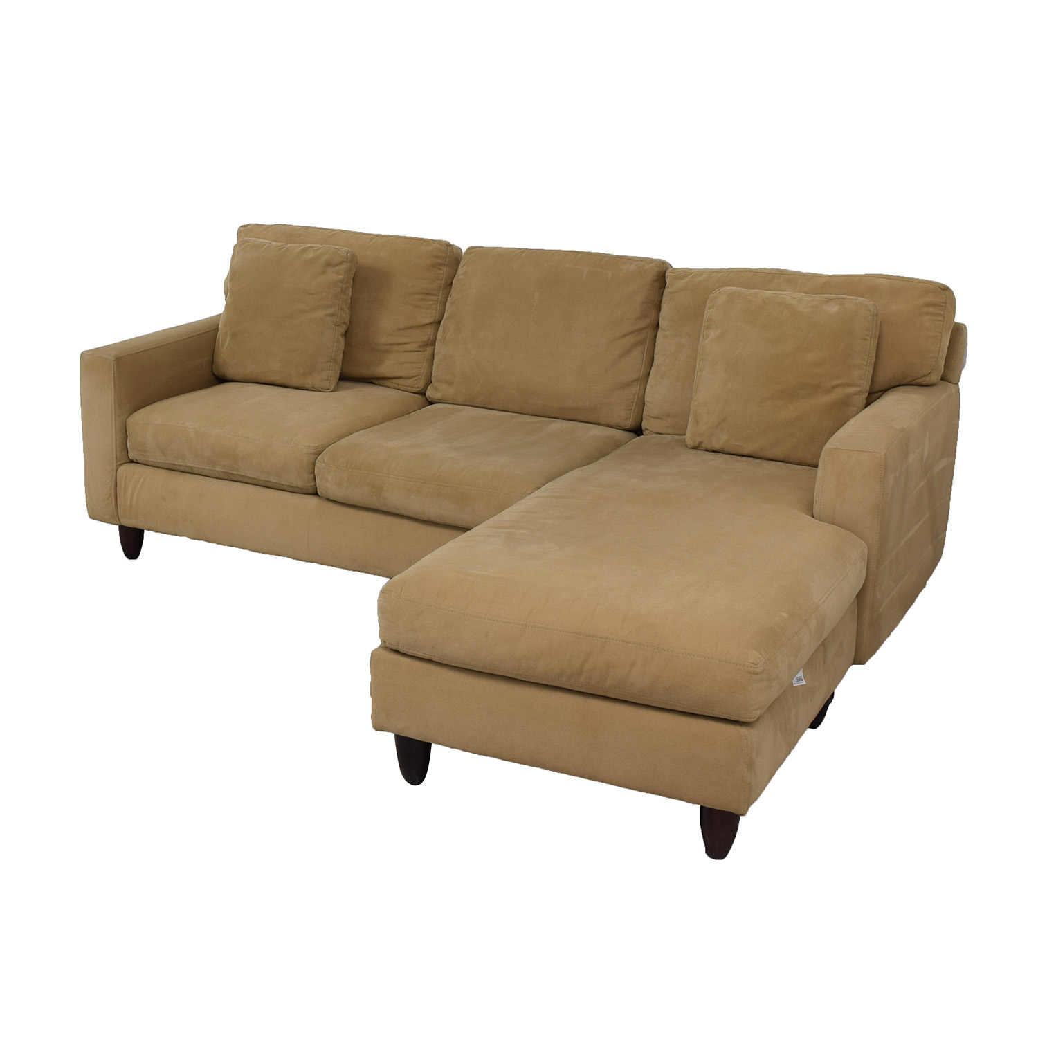 89 off max home max home tan sectional sofa sofas