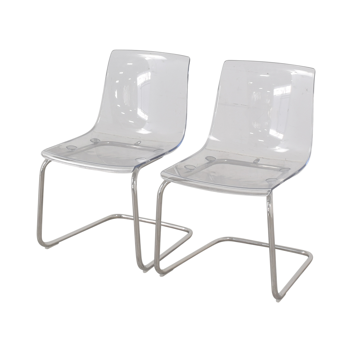 79 off ikea ikea tobias chrome and lucite chairs chairs