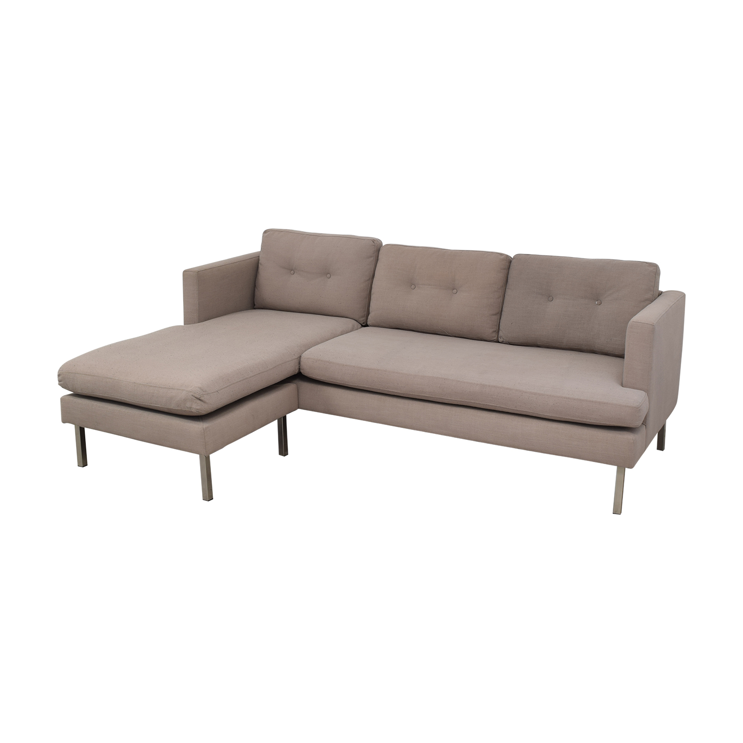 73 off west elm west elm marco two piece sectional sofa in chenille tweed sofas