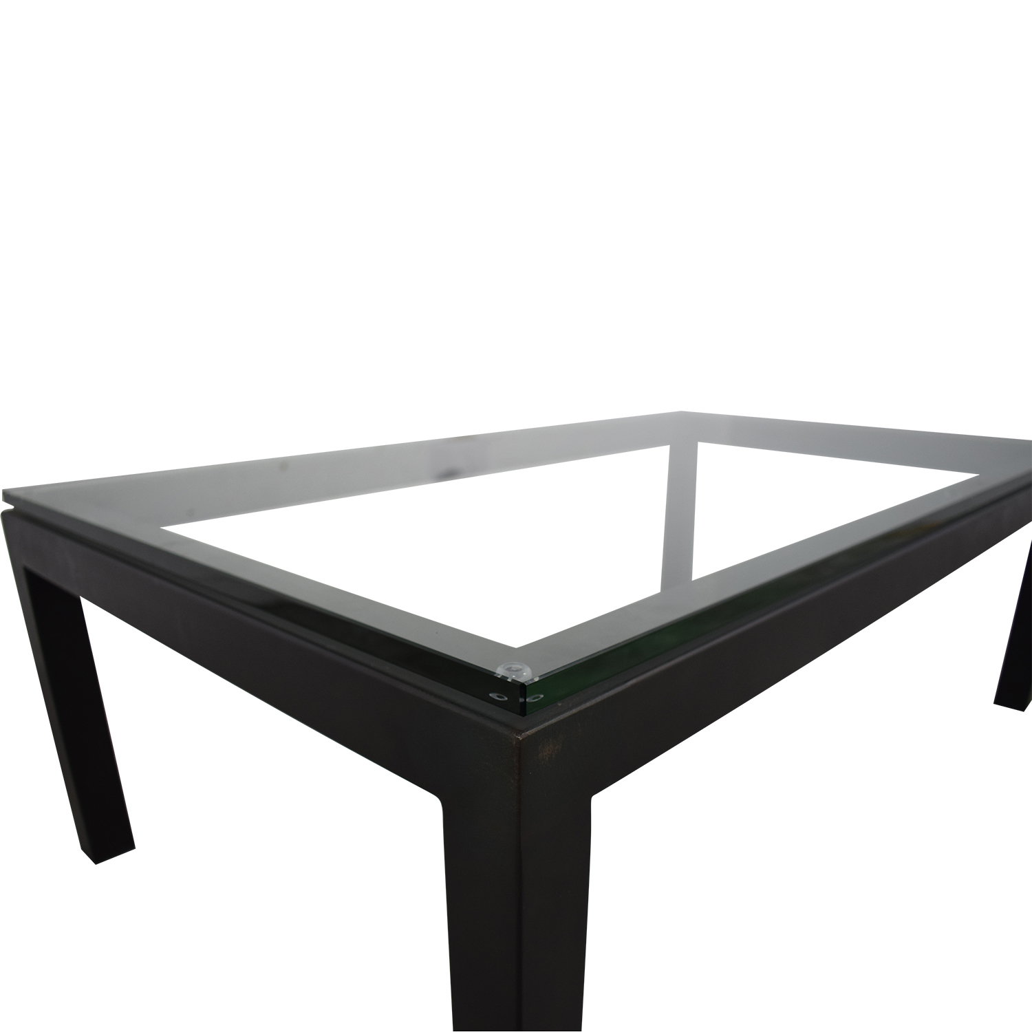 66 off crate barrel crate barrel parsons clear glass top table tables