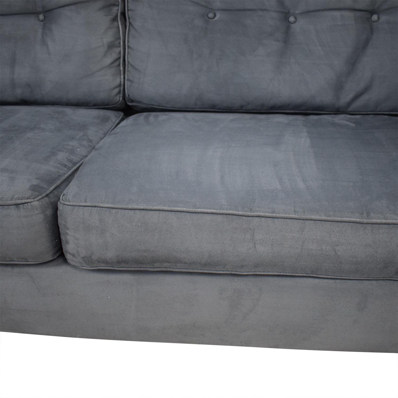 90 Off Bauhaus Furniture Bauhaus Furniture Navy Tufted Microfiber Sofa Sofas
