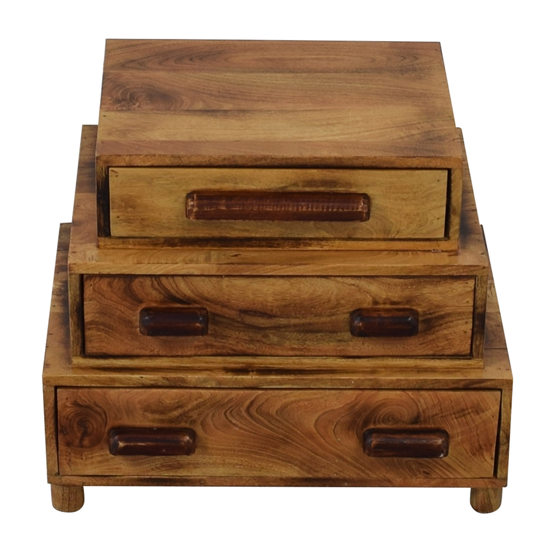 75 off anthropologie anthropologie brigatta reclaimed wood nightstand tables