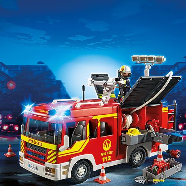 5363 Fourgon De Pompier Avec Sirne Et Gyrophare