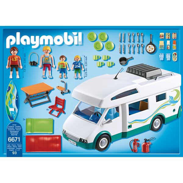 6671 Famille Avec Camping Car Playmobil Summer Fun