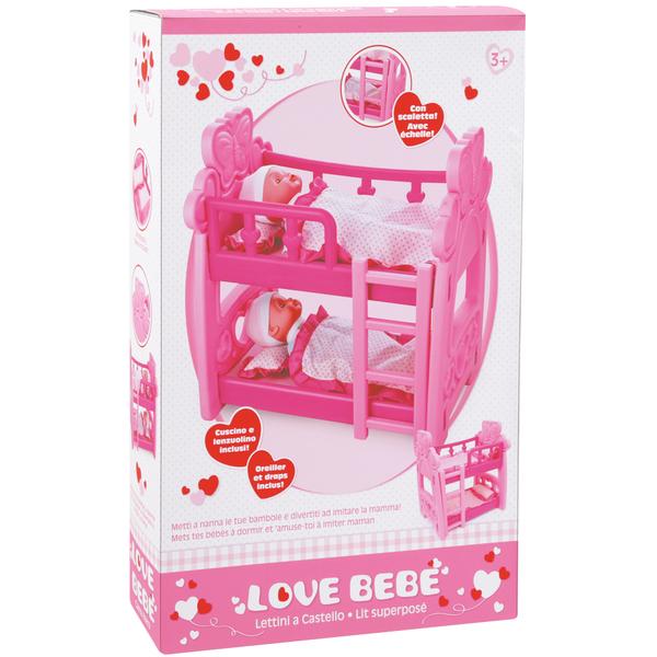 lit superpose pour poupees love bebe king jouet poupons bebes love bebe poupees peluches