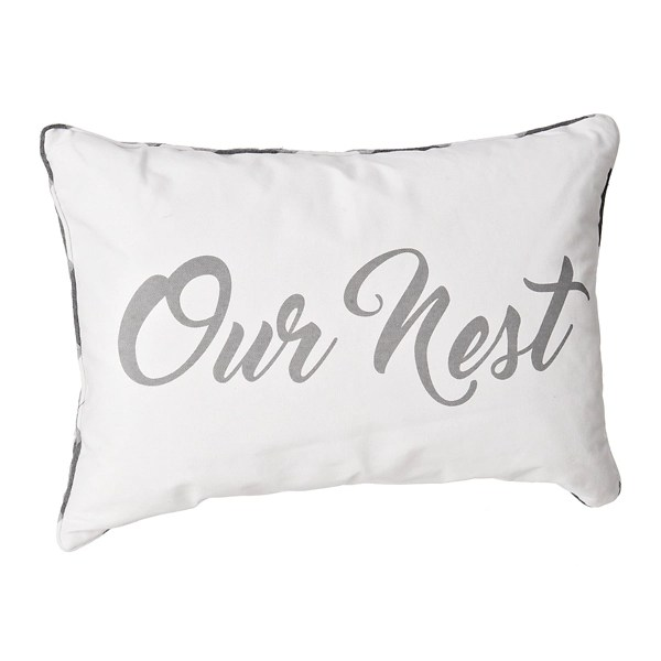 our nest buffalo check accent pillow