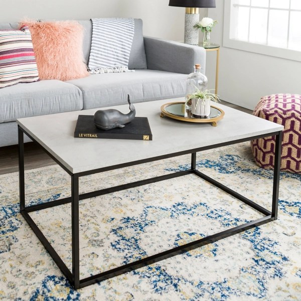 concrete mixed material coffee table