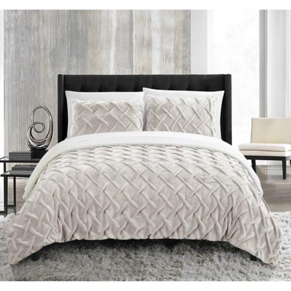 beige naomi 3 pc queen comforter set