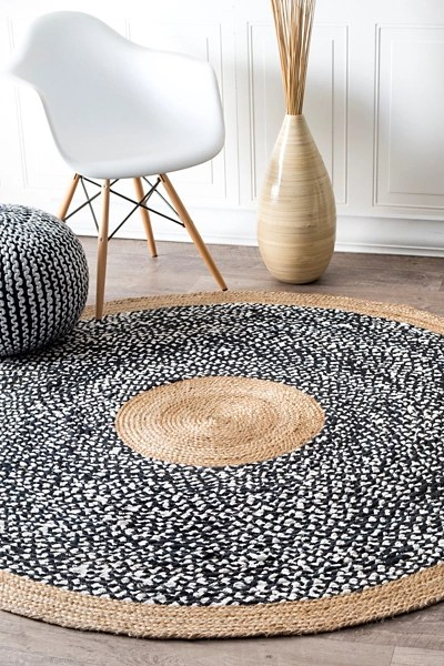 natural lesha round rug 8 ft