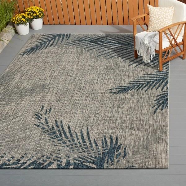 tropical palms captiva outdoor area rug 5x7