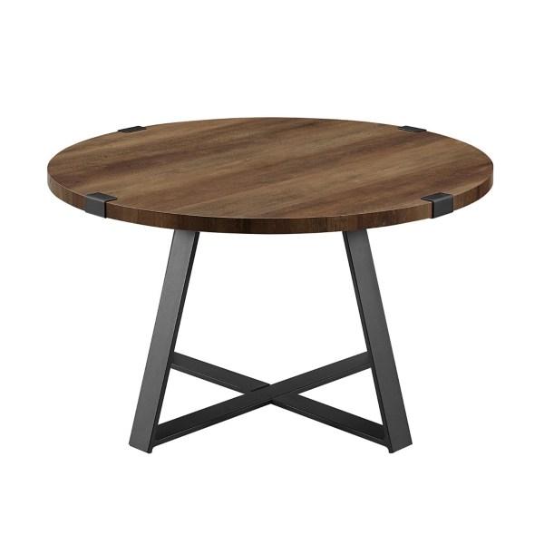 oak urban rustic round coffee table