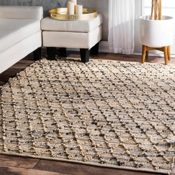 tan and black rigby diamond stripe area rug 8x10