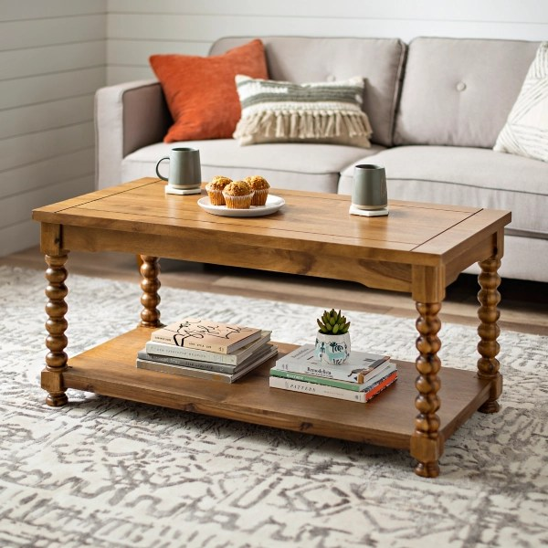 davis spindle coffee table