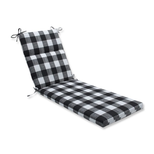 black buffalo check outdoor chaise lounge cushion