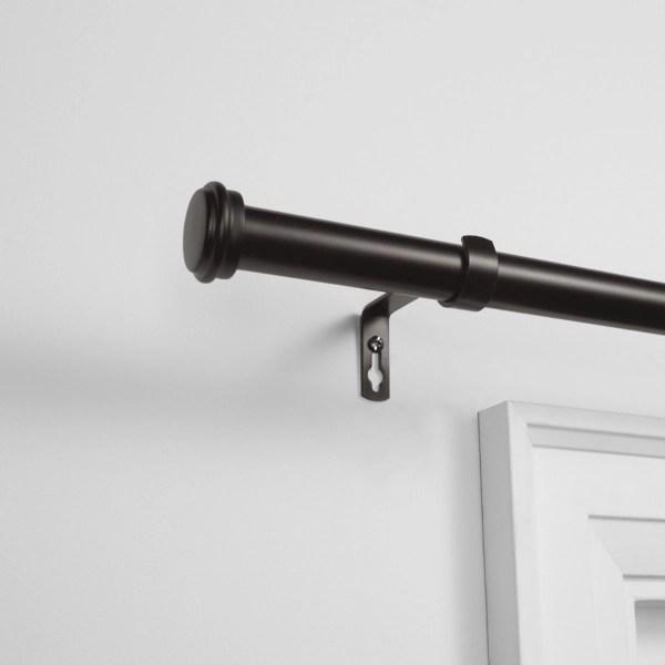 matte bronze topper outdoor curtain rod 160 in