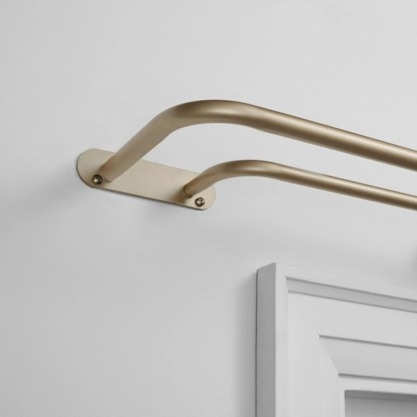gold wrap around double curtain rod 72 in