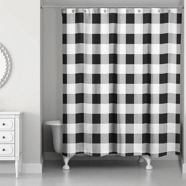 black buffalo check shower curtain