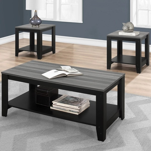gray top freya 3 pc coffee and accent table set