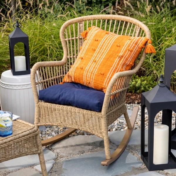 tulum natural wicker outdoor rocker chair