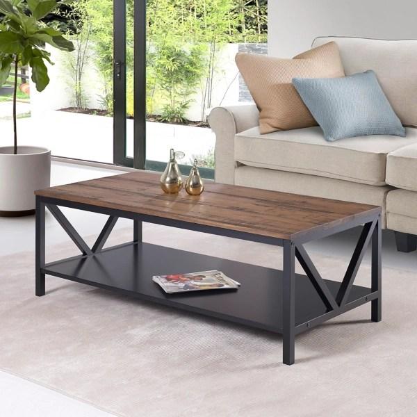 distressed barnwood coffee table