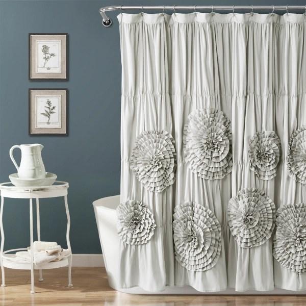 light gray serena shower curtain