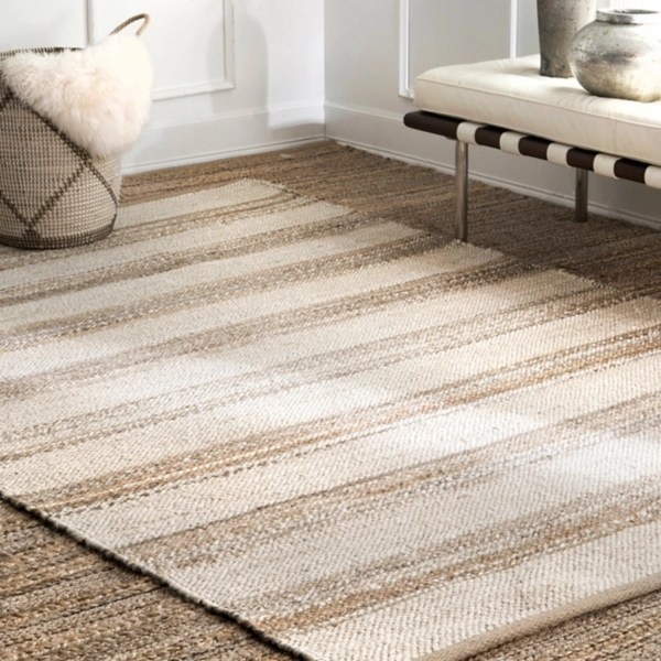 neely striped jute area rug 7x9