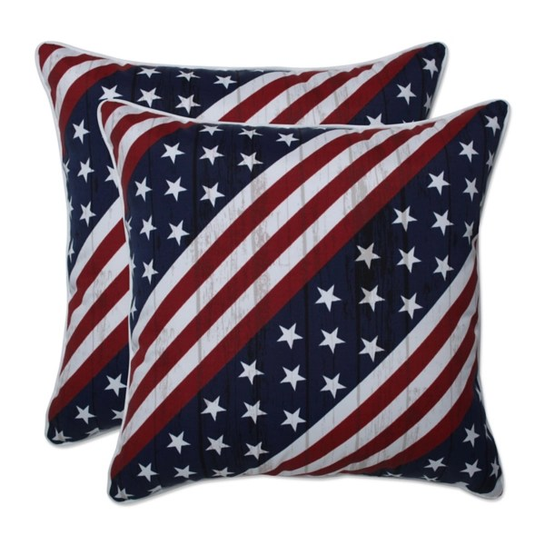 stars and stripes outdoor throw pillows set of 2
