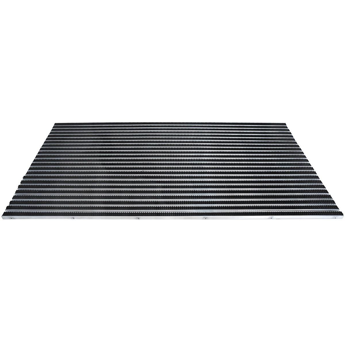 tapis de proprete a profile en aluminium insert a brosses