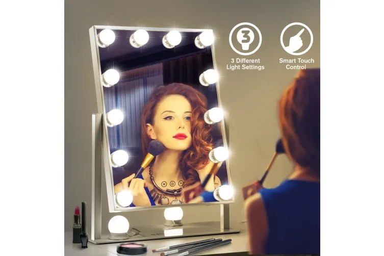 Hollywood Style Makeup Mirror With, Lytworx 90lm Hollywood Style Vanity Mirror Light 4 Bulbs