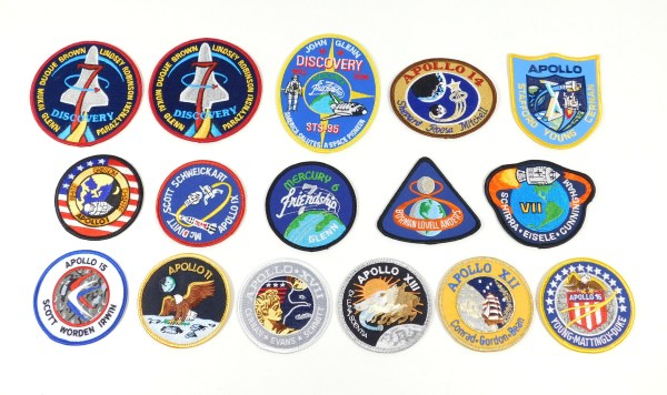 Lot of (16) Different Commemorative NASA Space Patches ...