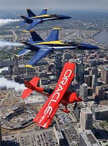 Blue Angels over Kansas City and Sprint Center