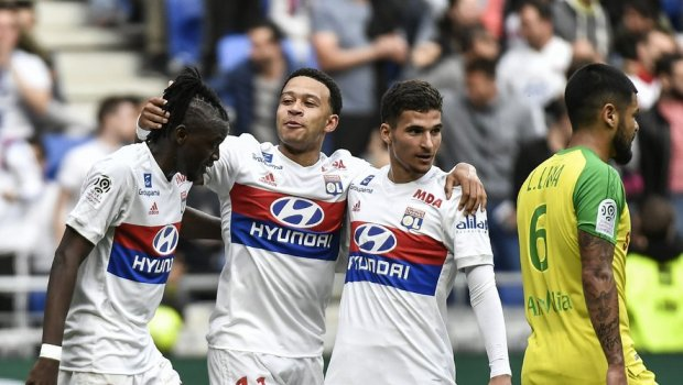 Image result for memphis depay lyon 2019