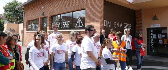 Les urgentistes en grève à Moissac.