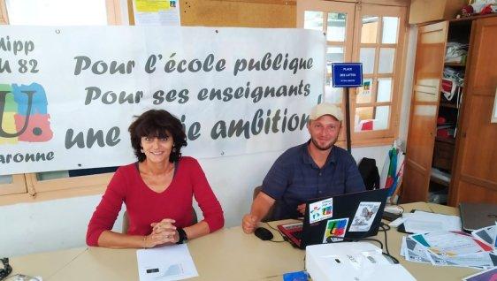 Sandra Rubio et Guillaume Mangenot, hier à Montauban.L.B.