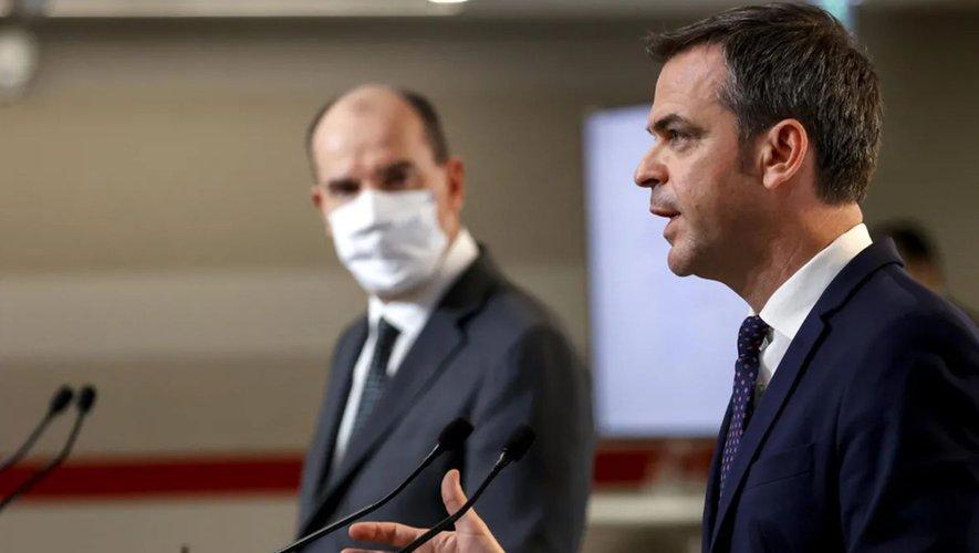 Le Premier ministre Jean Castex et le ministre de la Santé Olivier Véran.