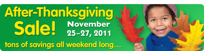 After-Thanksgiving Sale November 25-27