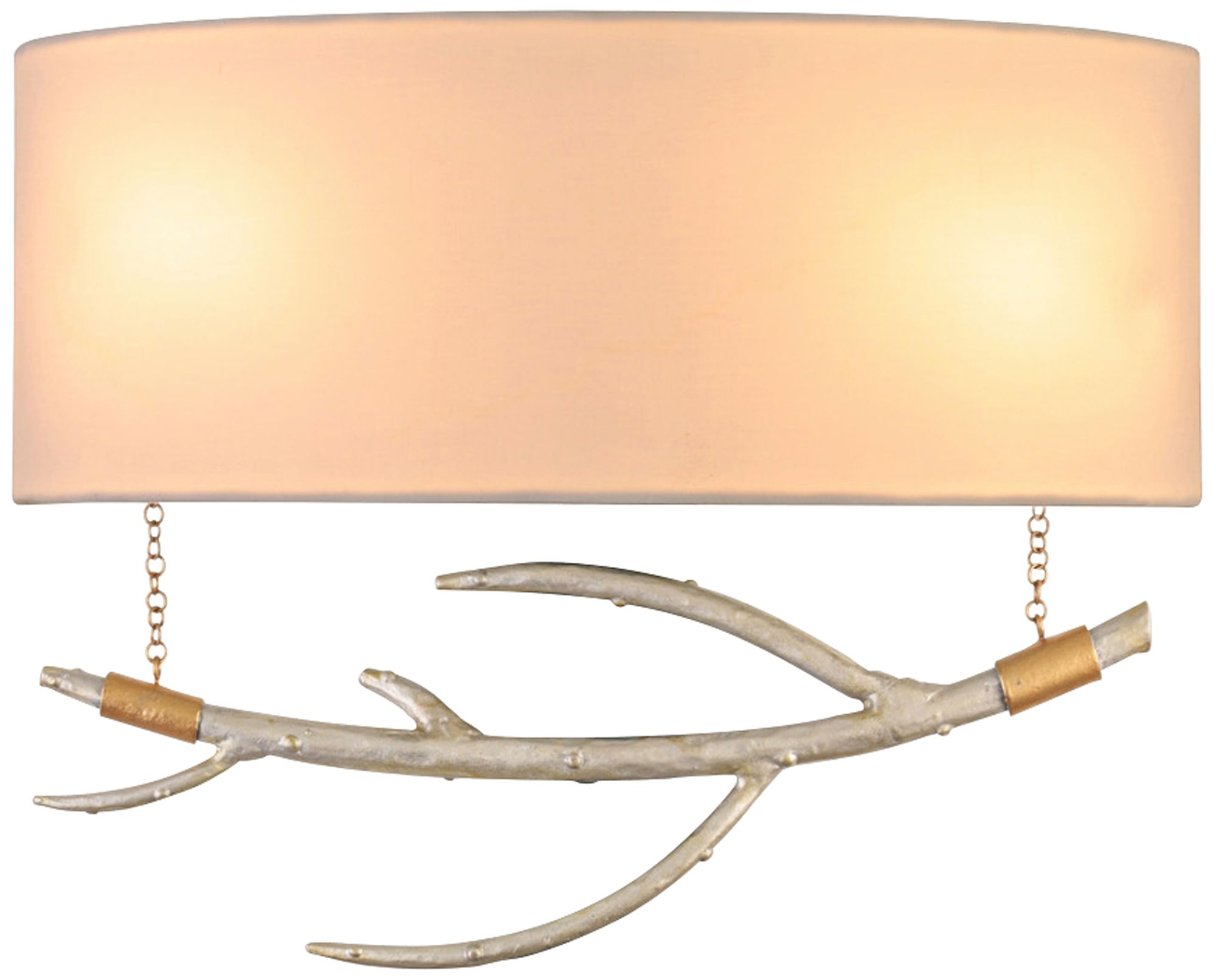 reno 10 high pearl silver hanging branch wall sconce