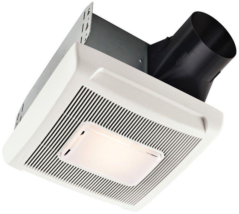 broan invent white 70 cfm 2 0 sones bath fan with light