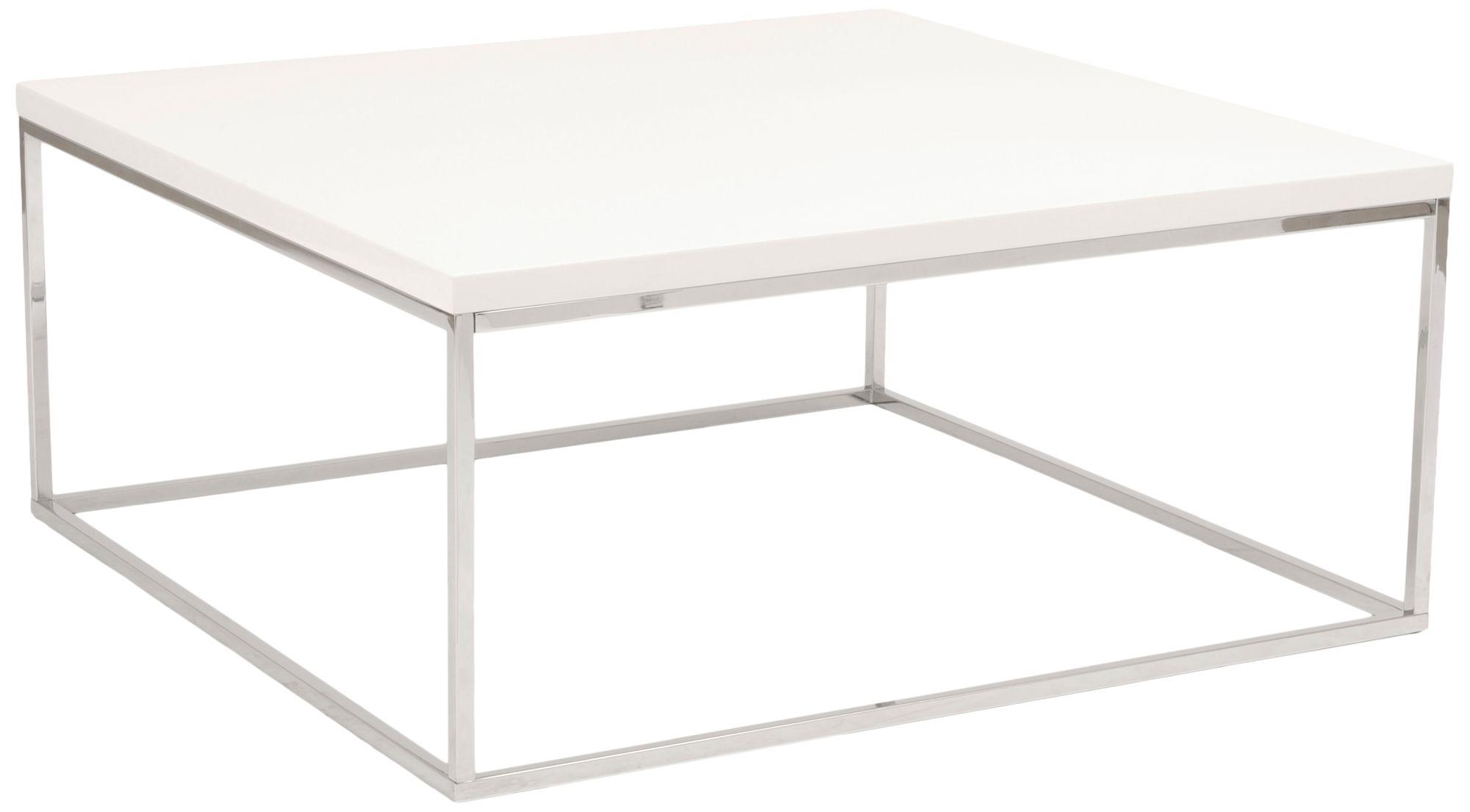 teresa 35 1 2 square high gloss white modern coffee table