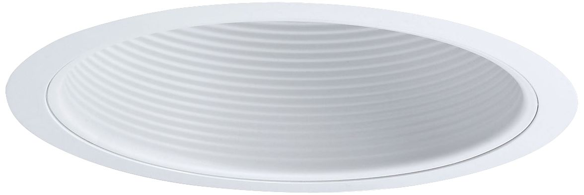 nora 6 wide white stepped baffle recessed lighting trim