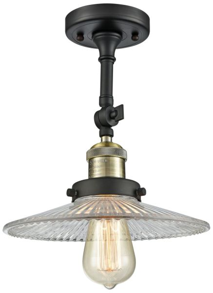 Brass   Antique Brass  Semi Flush Mount  Close To Ceiling Lights     Halophane 8 1 2