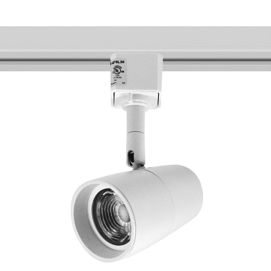 nora mac white 4000k led track head for halo systems