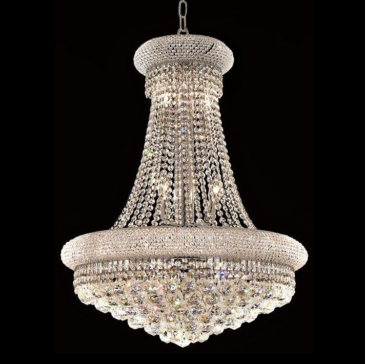Primo Collection 28 Quot Wide Royal Cut Crystal Chandelier