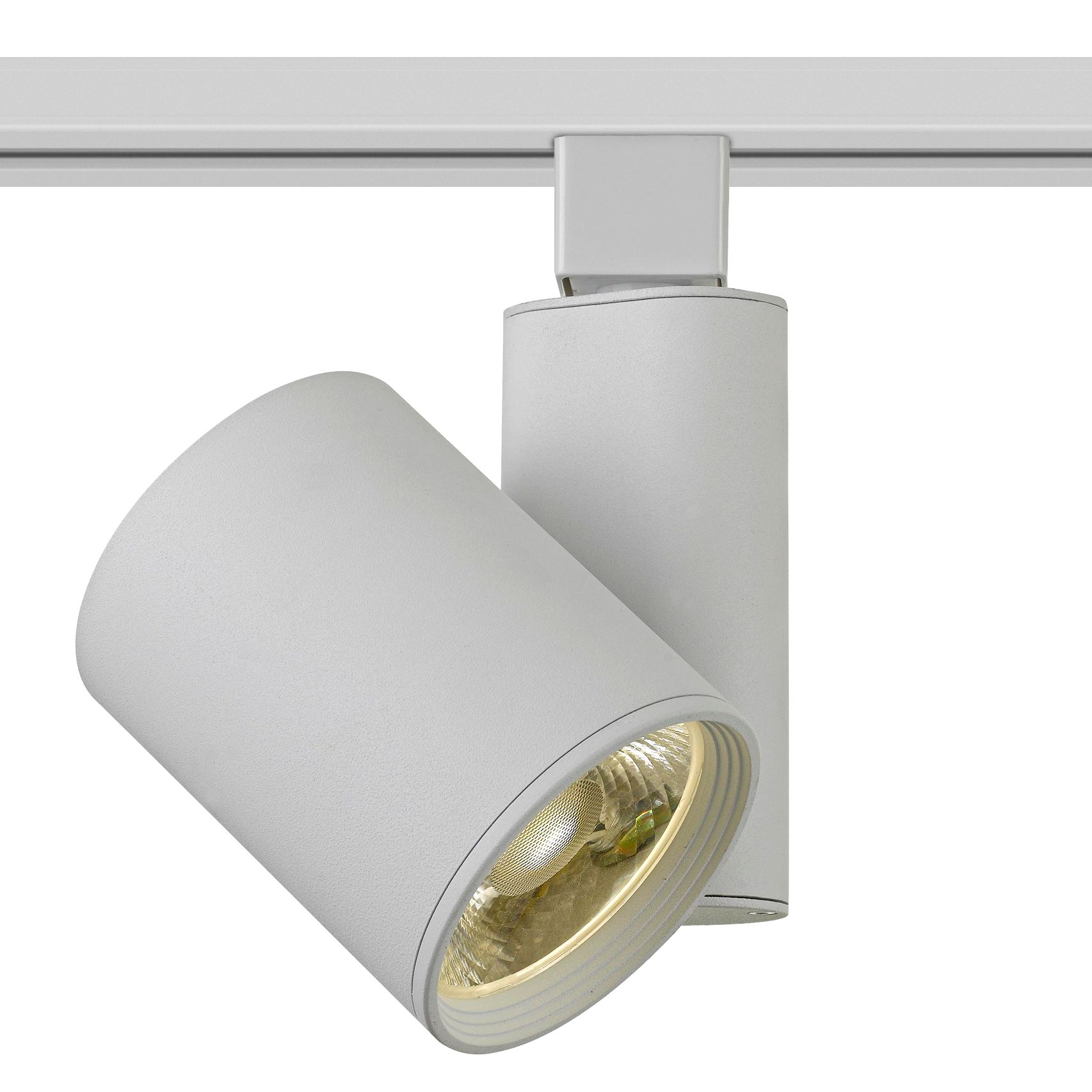 white 15 watt led cylinder small track head for halo system