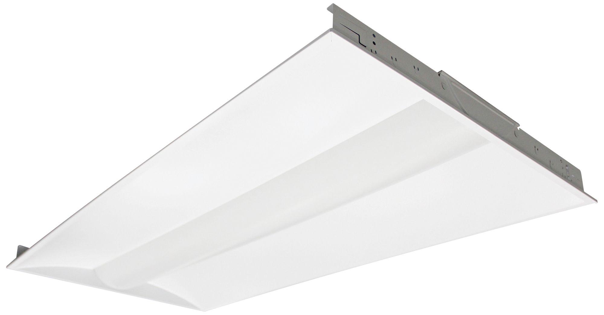 nuvo 2x4 foot white 4000k 50 watt led recessed troffer