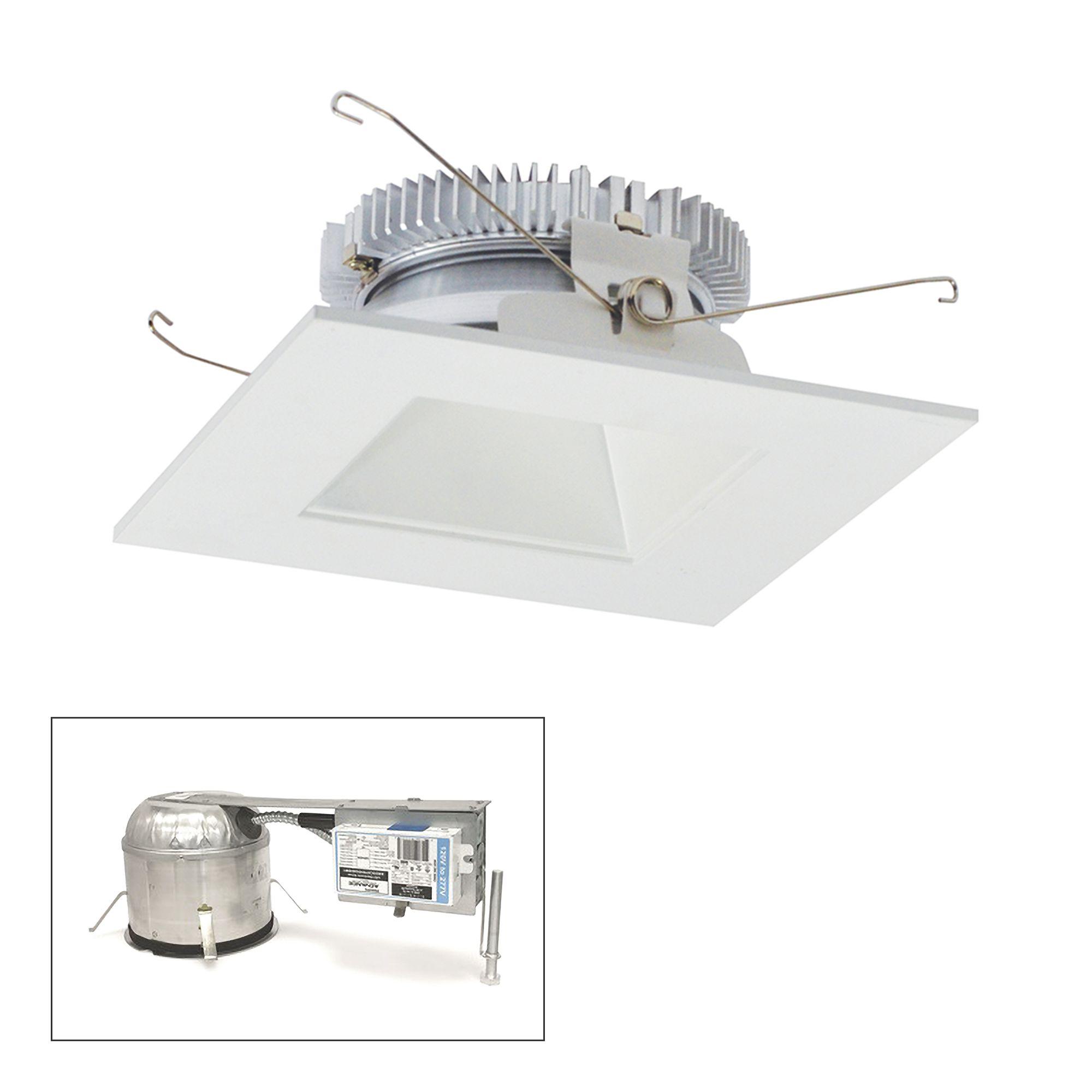 cobalt 6 white 1500lm led square remodel recessed kit