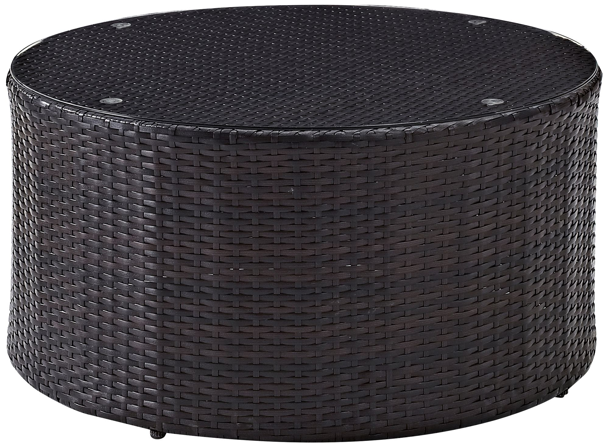 catalina outdoor wicker sectional glass top coffee table