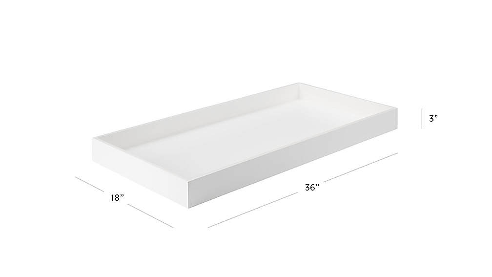 Cargo White Changing Table Topper